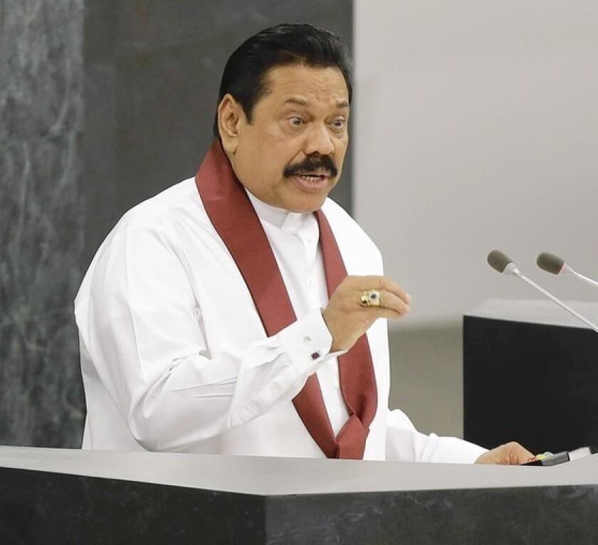 Sri Lanka president uses his time in U.N. spotlight to lash out