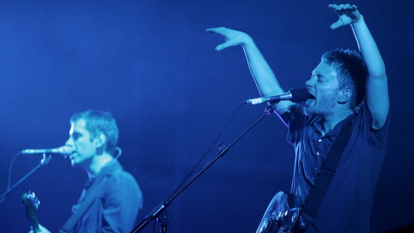Radiohead performs at Bonnaroo. The band just released 16-plus hours of rehearsal tapes after a hacker threatened to release them unless they paid a ransom.
