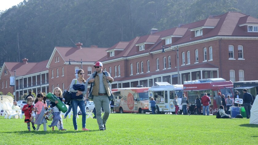 The Presidio, in San Francisco, has undergone steady improvements since the National Park Service took over the 1,491-acre site in 1994. Live music and food truck gatherings are often featured on the old parade grounds.