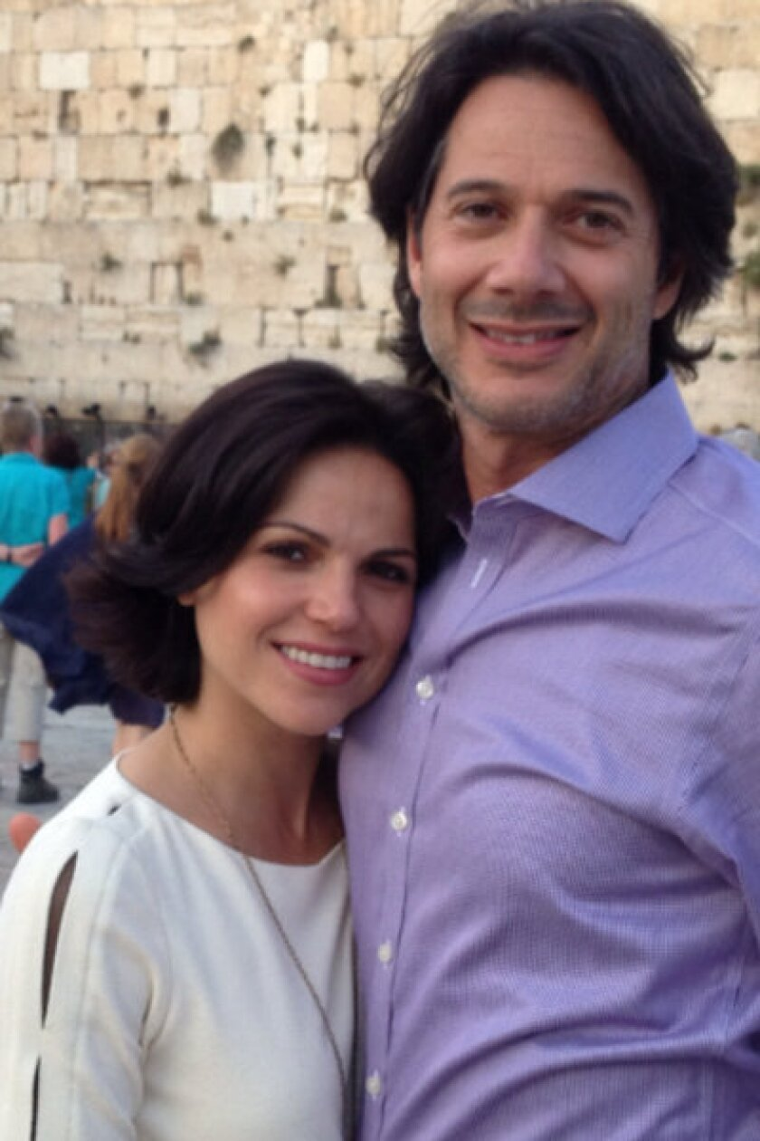 """""""Once Upon a Time"""" star Lana Parrilla and Fred Di Blasio got engaged in Israel on April 28."""