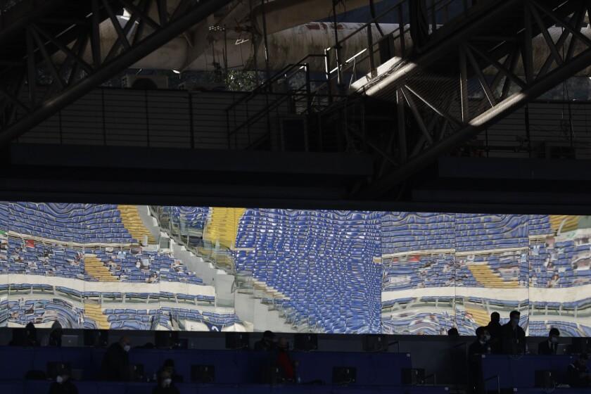 Las gradas vacías del Estadio Olímpico de Roma