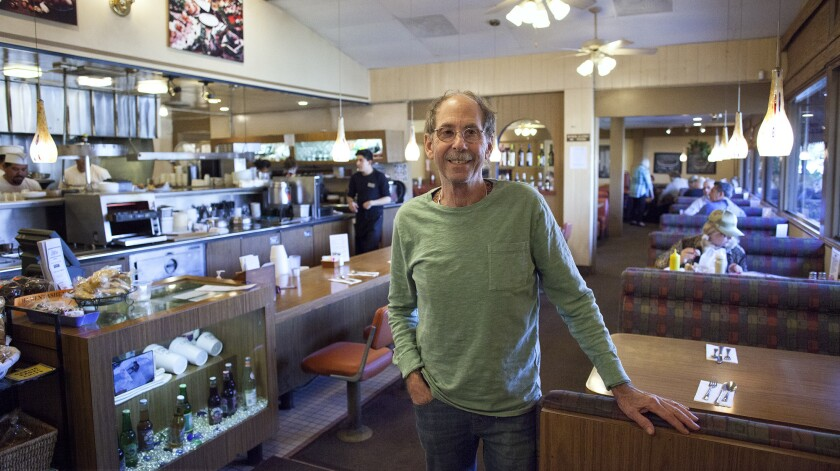 Owner Lloyd Weinstein at Benjies Deli in Santa Ana. The restaurant is celebrating its 50th anniversary as a Jewish deli.