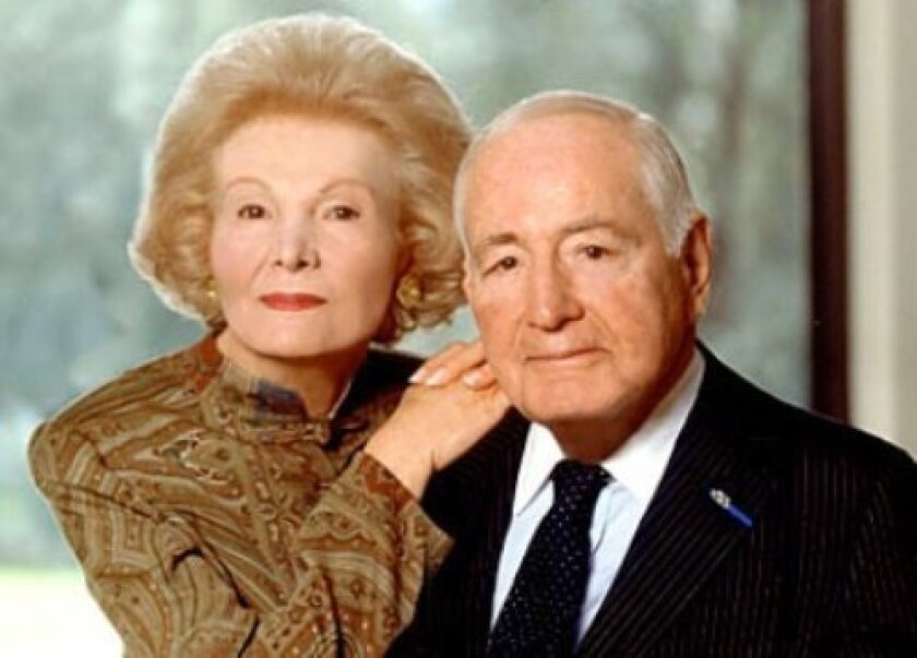 Leonore and Walter Annenberg were major benefactors of USC, among other institutions.