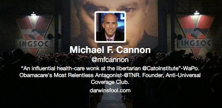 Calls himself a health policy expert, doesn't have a clue: Cato's Michael F. Cannon.