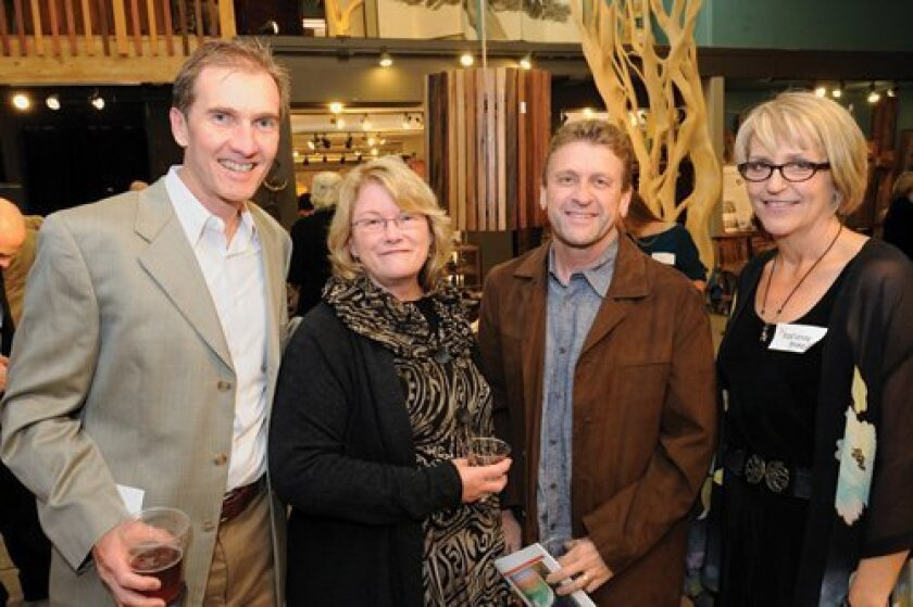 Drew Hubbell, Teri and Chuck Lang and Marianne Gerdes, executive director of the foundation