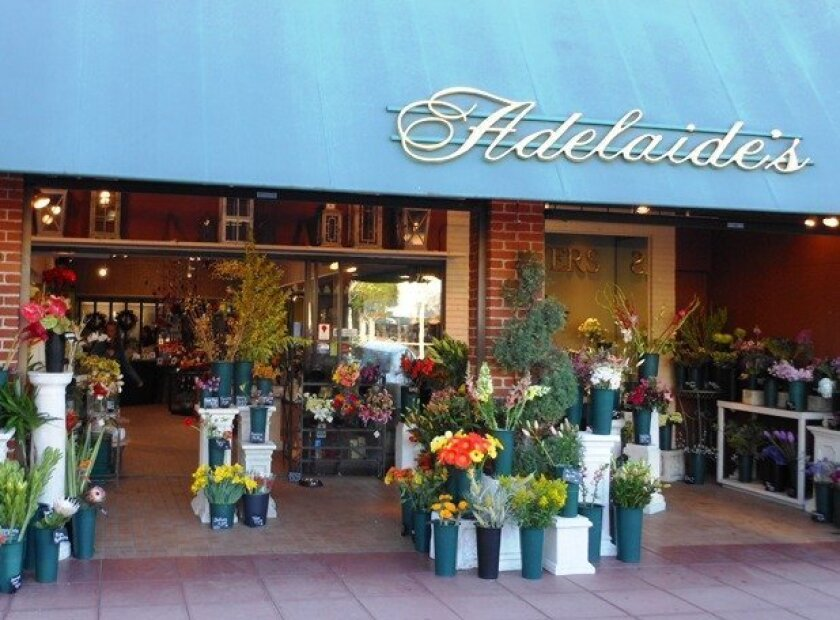 Adelaide's flower shop in La Jolla, founded 80 years ago, changes ownership.
