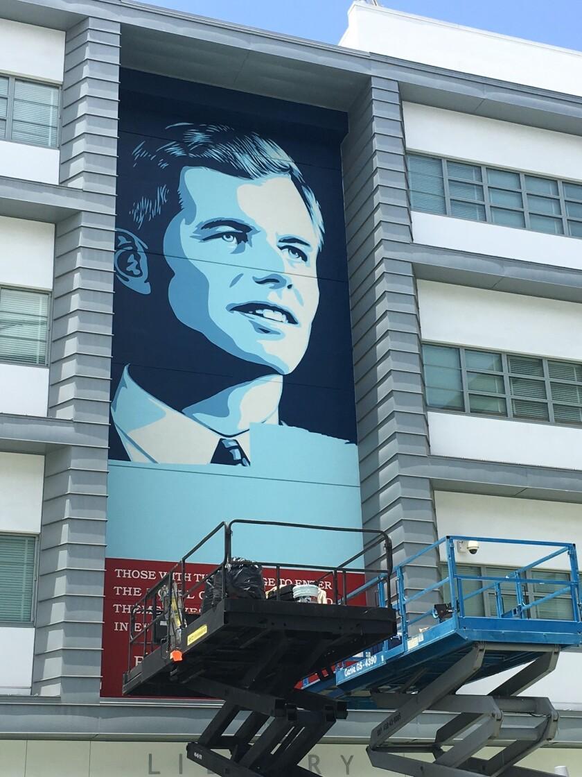 Shepard Fairey's mural of Robert F. Kennedy.