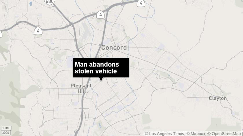 Man abandons stolen vehicle