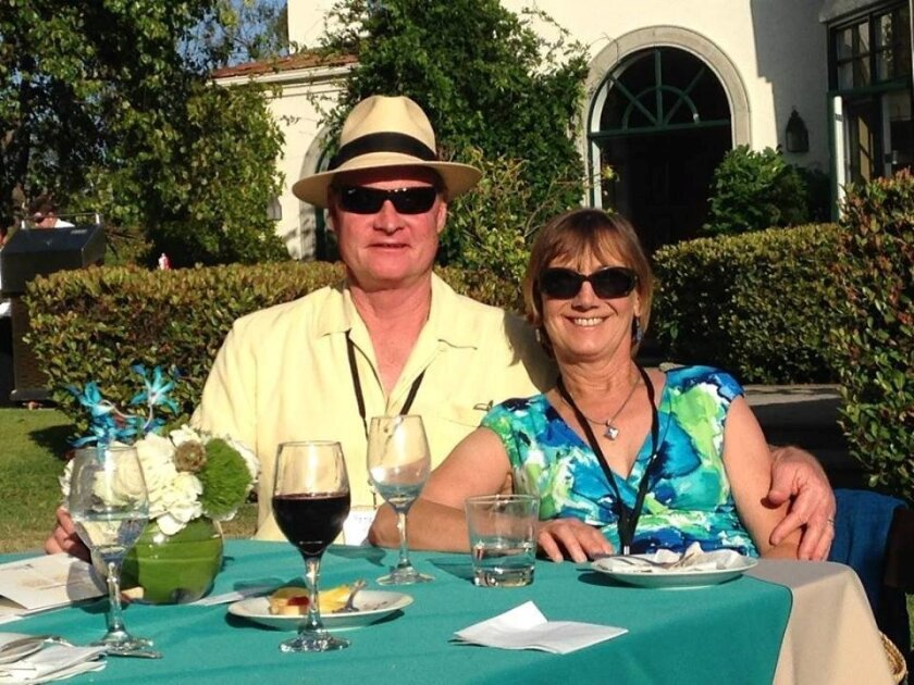 Tania Swain and her husband, Peter Swain, at the Clearity Foundation's Someone Lived event last year.