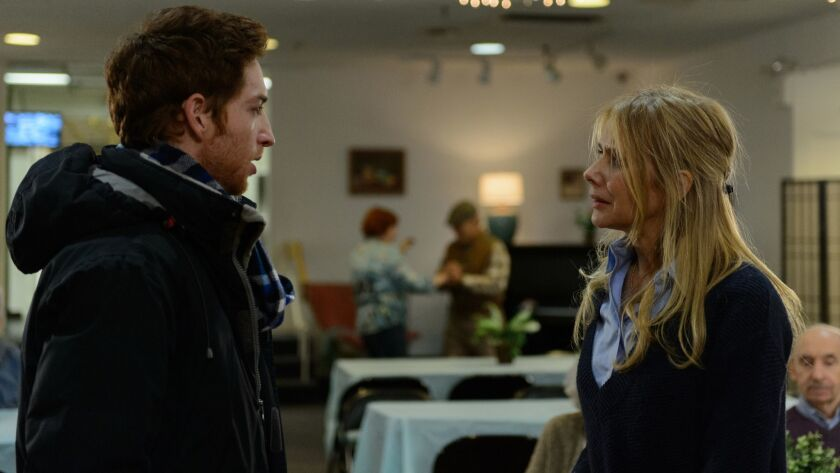 """Jay Devore and Rosanna Arquette in the movie """"Born Guilty."""""""