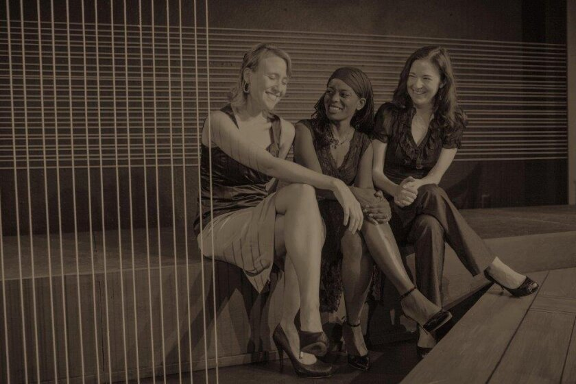 Jennifer Eve Thorn, Delicia Turner Sonnenberg and Jo Anne Glover (left to right) of Moxie Theatre.