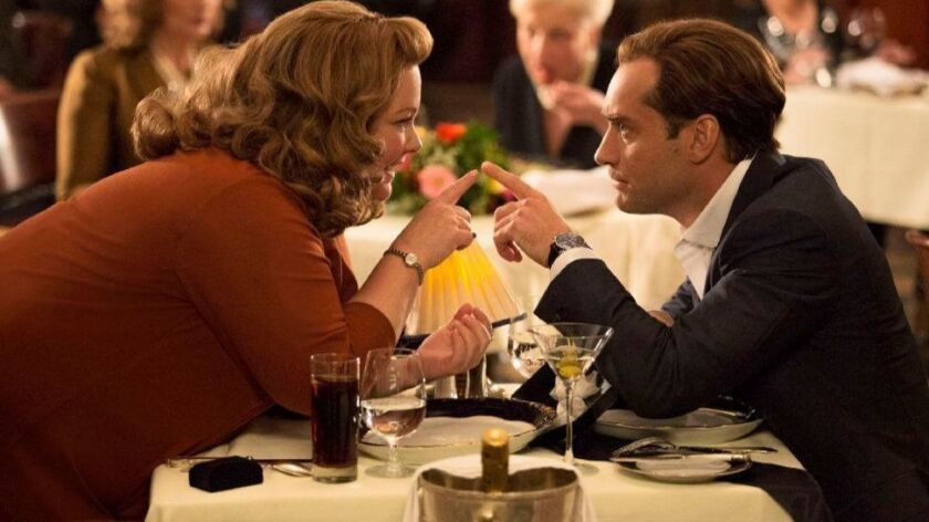 "Melissa McCarthy turned down Jude Law's invitation to dinner in ""Spy."""
