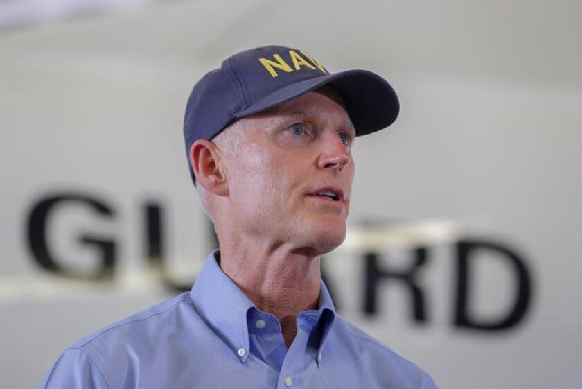 El gobernador de Florida, Rick Scott, anunció hoy oficialmente en Orlando (centro de Florida) que competirá en noviembre próximo por el puesto del Senado que actualmente está en poder del senador demócrata Bill Nelson. EFE/ARCHIVO
