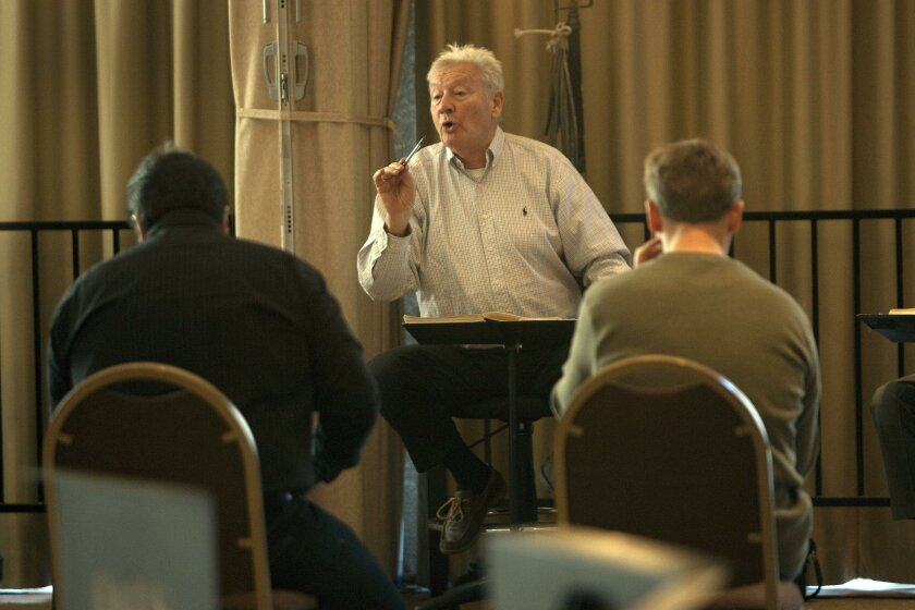 """Conductor Edoardo Muller leads a rehearsal of """"Turandot"""" for San Diego Opera in this January 2011 photo."""