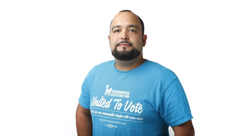 Jorge Gonzalez is a community organizer with the Environmental Health Coalition, a non-profit that w