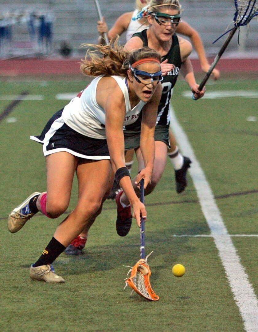 """""""You have to be able to do other things besides score goals. I try as hard as I can to do what it takes to win,"""" says Torrey Pines High's Katie Trees."""