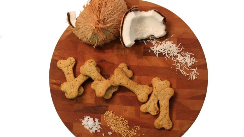 Nutritious and on-trend ingredients include Pure Dog Food's use of coconut and flaxseed meal.