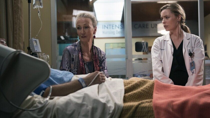 """Kathleen Chalfant, left, and Melissa George in """"Heartbeat"""" on NBC."""