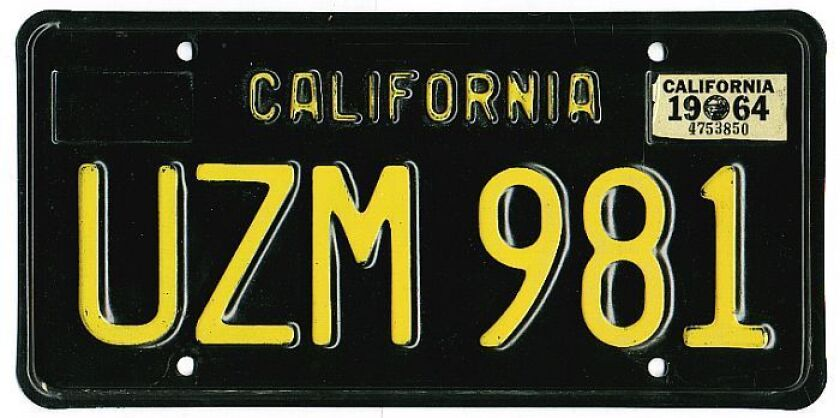 The California DMV announced this week that it was sending to the presses replicas of the black license plates from the 1960s. The plates will be available for cars, trucks and motorcycles from all years.