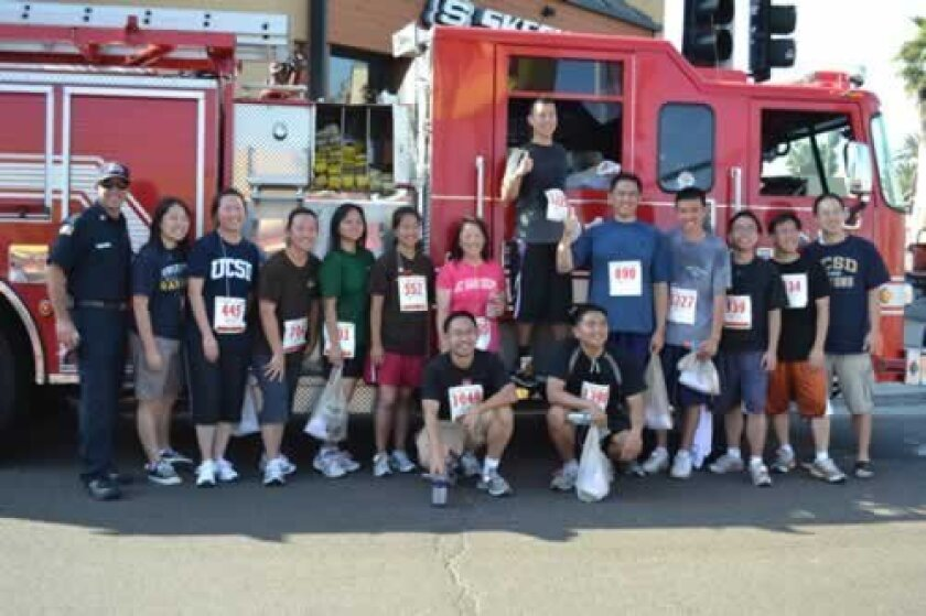 Participants in last year's End of Summer Fire Run. Courtesy San Diego Fire Rescue Foundation.