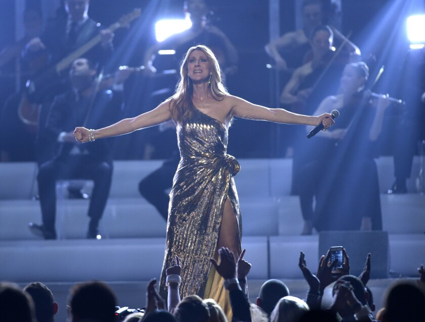 Celine Dion performs at the Billboard Music Awards.