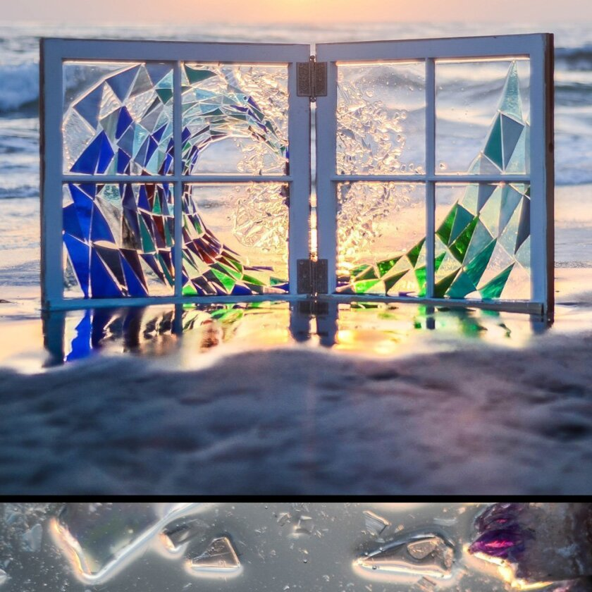 """Glass Wave"" by Donna Rebecca Schichler"