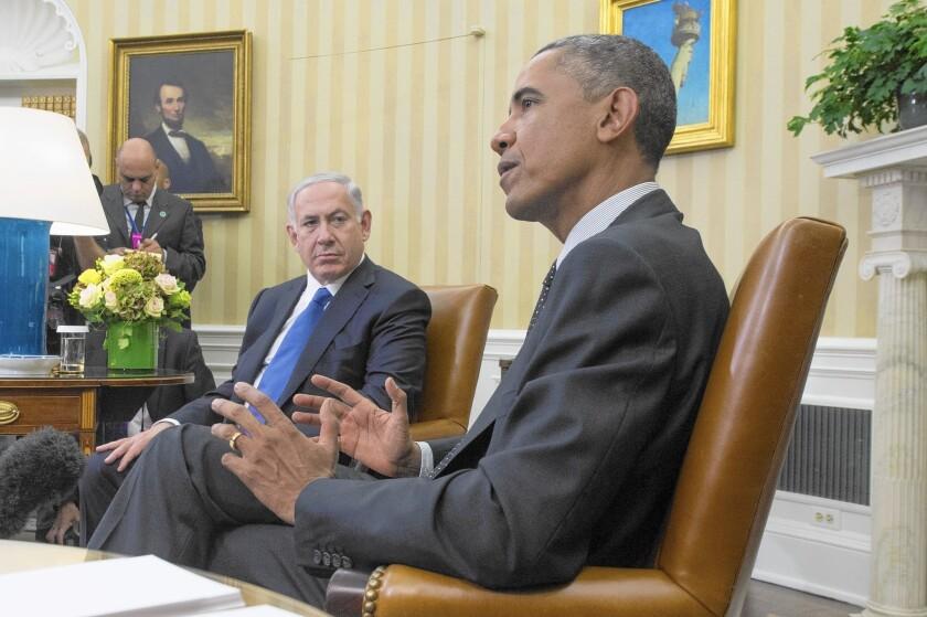 President Obama and Israeli leader Benjamin Netanyahu