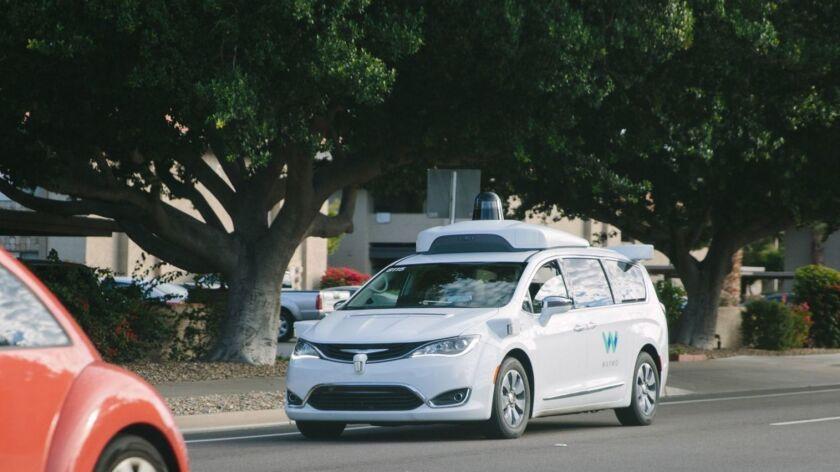 Waymo driverless van
