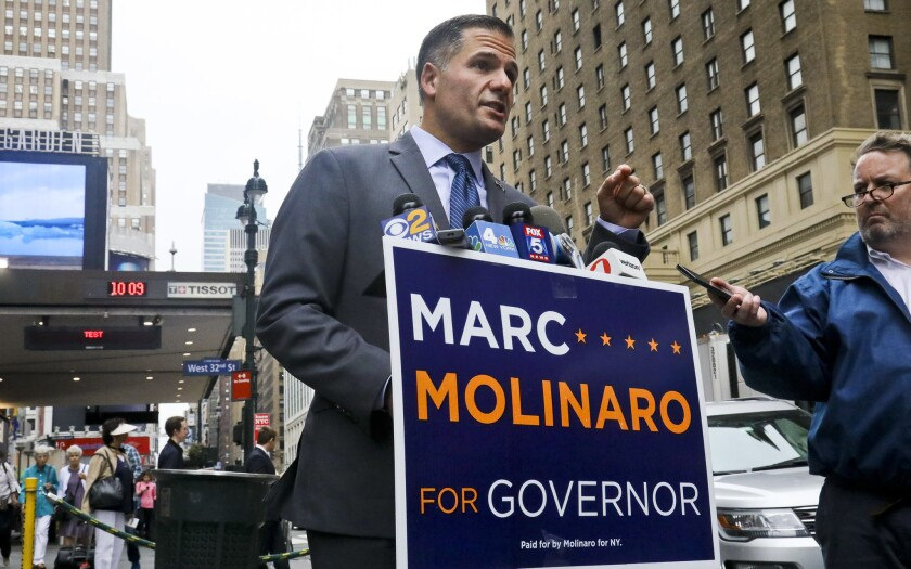 New York Republican gubernatorial candidate Marc Molinaro is calling on Sandra Lee, Governor Andrew Cuomo's girlfriend to release her financial info.