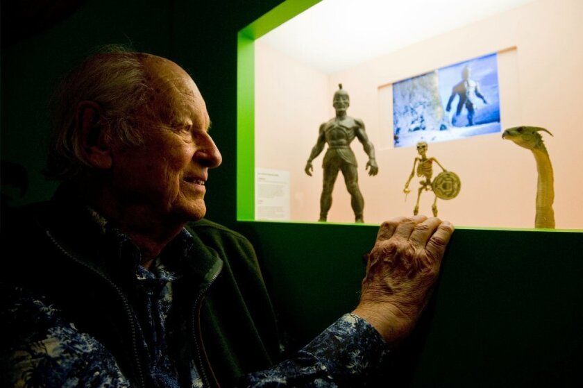 The late special effects pioneer Ray Harryhausen, seen here at the London Film Museum in 2010, is the subject of retrospective in June at the American Cinematheque