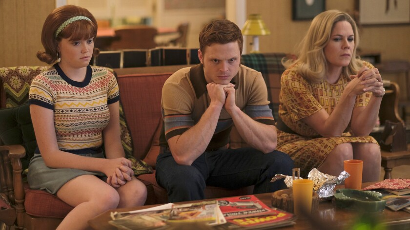"""Kennedy Lea Slocum, left, Caleb Foote, Mary McCormack in """"The Kids are Alright"""" on ABC."""