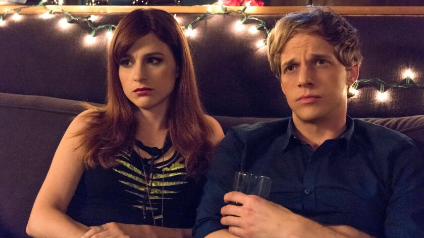 "Aya Cash and Chris Geere in ""You're the Worst."""