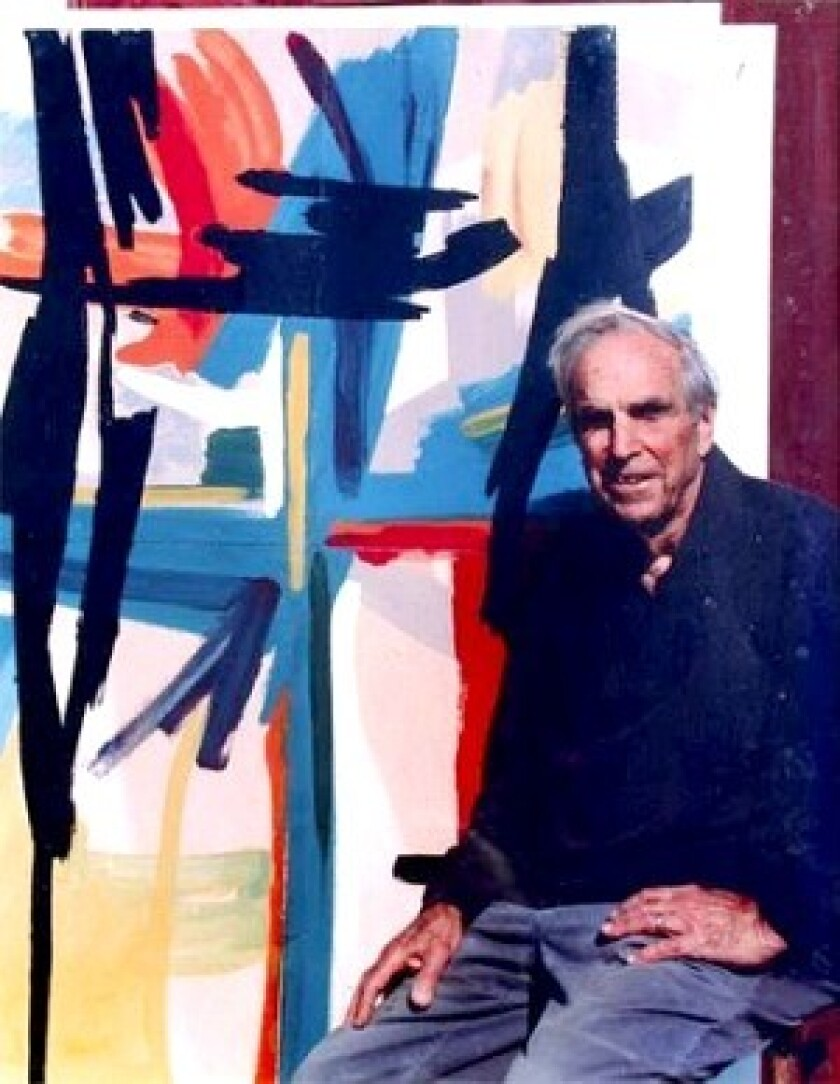 "David W. Scott, a longtime administrator, resumed painting after he retired, working primarily on what he called ""abstractions and mindscapes."""