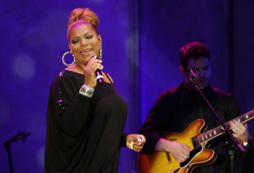 Queen Latifah performs at the Hollywood Bowl on July 10, 2013, opening the venue's summer-long Jazz at the Bowl series.