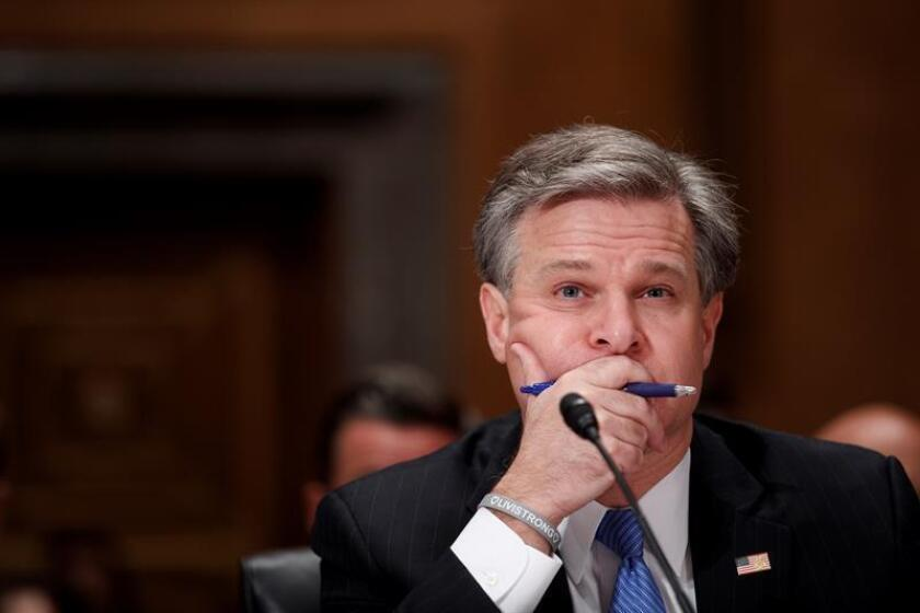 El director del FBI, Christopher Wray, comparece ante el Comité de Asuntos Externos del Senado, en Washington, EE.UU., el 10 de octubre del 2018. EFE