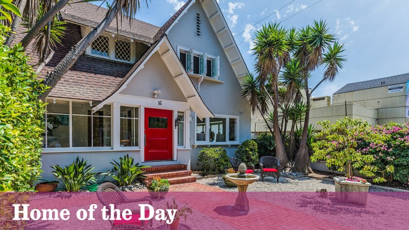 "This Transitional Craftsman in Venice, built by Abbot Kinney in 1906, was used as a filming location for the television series ""Californication."""