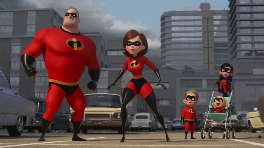 "The Parr family returns in ""Incredibles 2."""