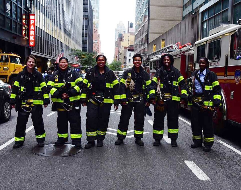 This all-women crew of firefighters helped protect dignitaries coming to the U.N. General Assembly in September 2018.