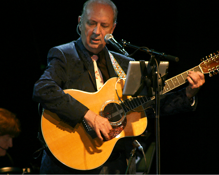 Michael Nesmith performing on March 24, 2013, at the Canyon Club in Agoura Hills on his first U.S. solo tour in 21 years.