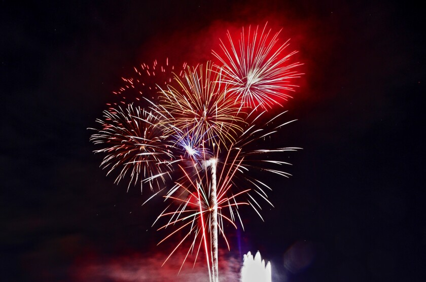 The 10th annual Crescenta Valley fireworks display, in 2016.