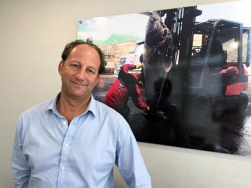El presidente y director ejecutivo de Pescanova USA, Richard Grant, posa durante una entrevista con Efe hoy, lunes 13 de noviembre de 2017, en la sede de la empresa en Coral Gables, ciudad vecina a Miami, Florida (Estados Unidos). EFE