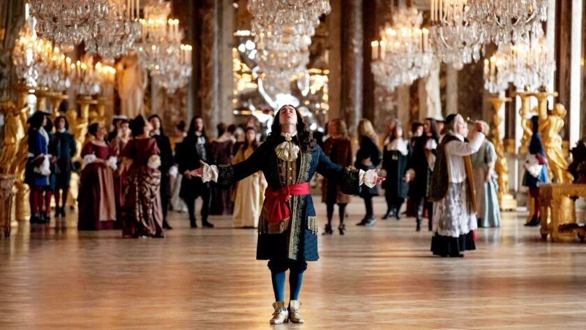 """George Blagden (Louis XIV) in the Ovation show """"Versailles""""."""