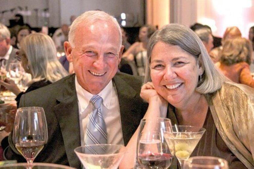Former San Diego Mayor Jerry Sanders and Darlene Shiley. Photo by Stephanie Pillar