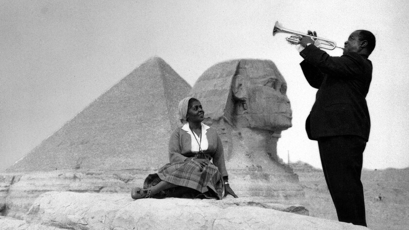 """Louis Armstrong and his wife Lucille """"The Jazz Ambassadors"""" on PBS."""