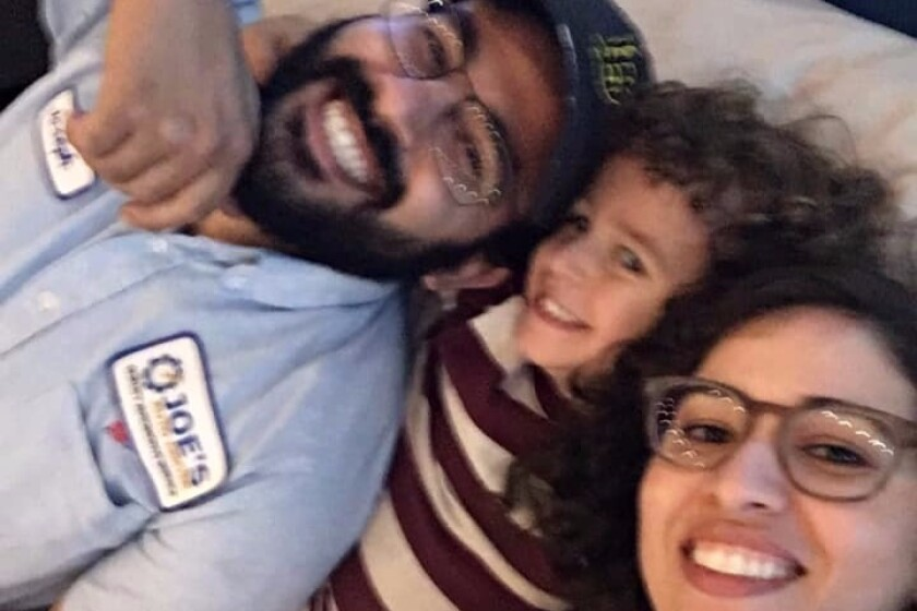 Joseph and Raihan Awaida, right, and their son, Omar, center, died after being struck by a suspected DUI driver on Halloween night.