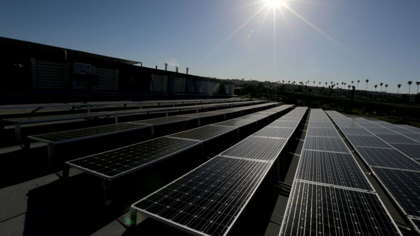 LOS ANGELES, CALIF. - FEB. 24, 2016. A large-scale solar panel project at Warehouses No. 9 and 10 at