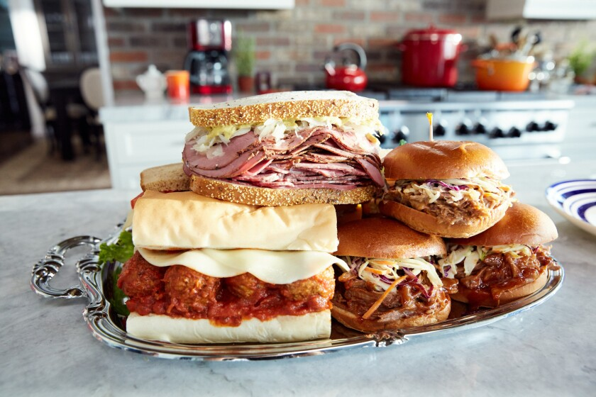 """Detail of sandwiches, as seen on Cooking Channel's """"Food: Fact or Fiction?, Season 2."""""""