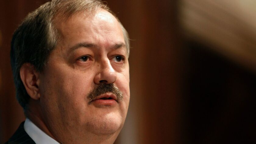 Former Massey Energy CEO Don Blankenship, seen in 2010 shortly after the mine explosion that cost the lives of 29 miners.