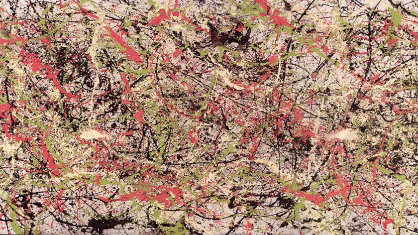 """""""Pink Spring,"""" a painting thought to be by Jackson Pollock, is at the center of a lawsuit in L.A. Superior Court"""
