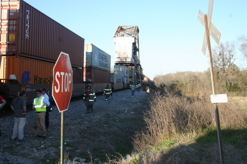 """The site of the February 2014 train accident in Wayne County, Ga., that killed camera assistant Sarah Jones on the set of """"Midnight Rider."""""""